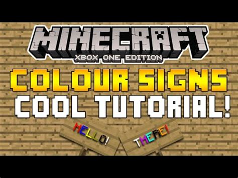 minecraft colored signs minecraft xb1 ps4 how to do colored signs on minecraft