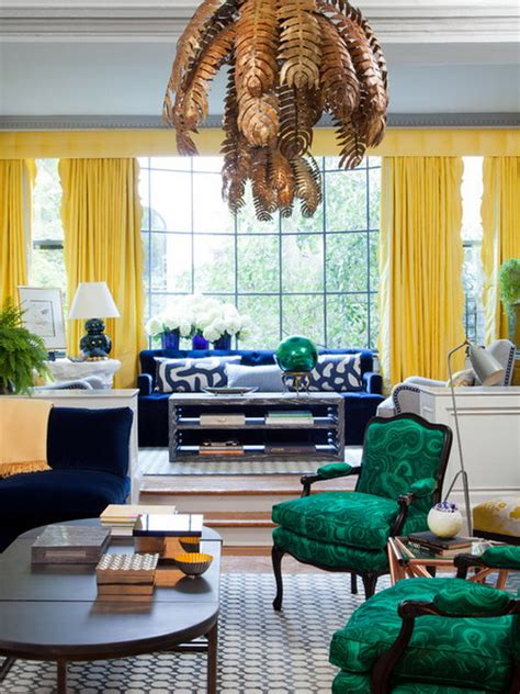 Curtains For Yellow Living Room Decor 30 Design Ideas For Your Eclectic Living Room