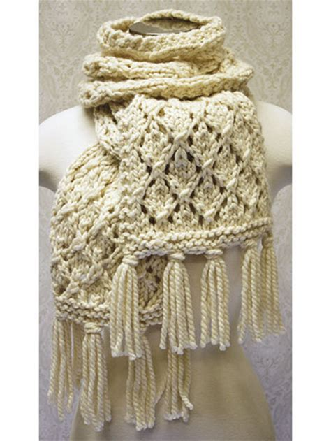 knit crochet now free knit pattern this chunky lace scarf
