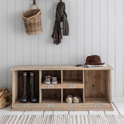 Meuble à chaussures en bois naturel 6 compartiments
