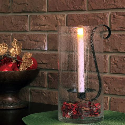 hurricane ls with flameless candles sedona flameless taper candle candle holder pacific accents