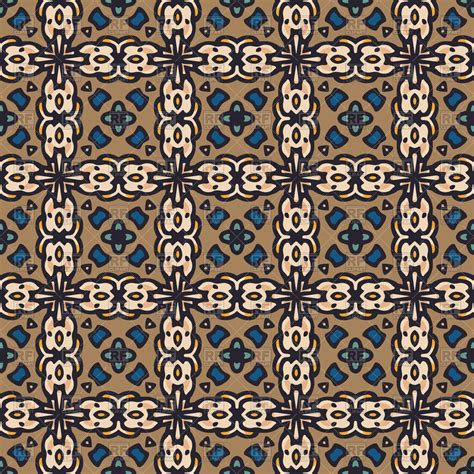pattern blue brown kaleidoscope seamless pattern in brown and blue colors