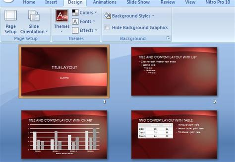 Crimson Landscape Powerpoint Template Powerpoint Make Template