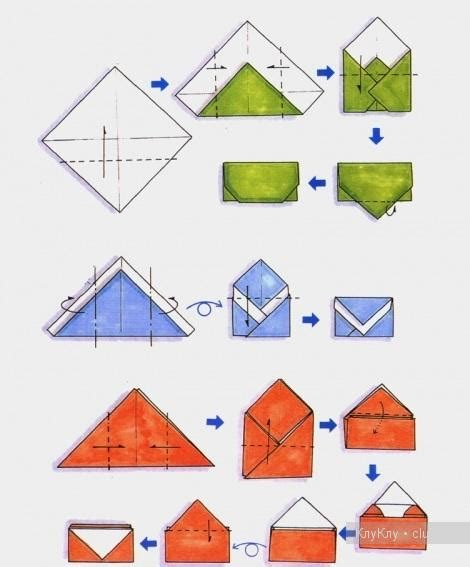 How To Fold Paper Into A Small Envelope - origami envelopes use green pattern for postal co