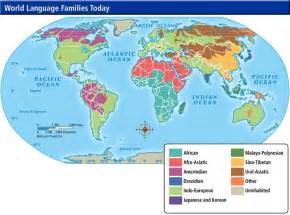 Language Map Of The World by World Cultures Maps