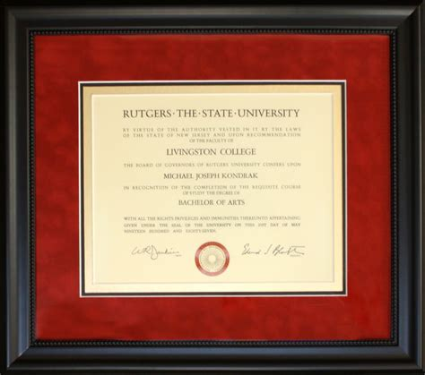 Rutgers Mba Diploma Frame by 1000 Images About Framed Diplomas Graduation On