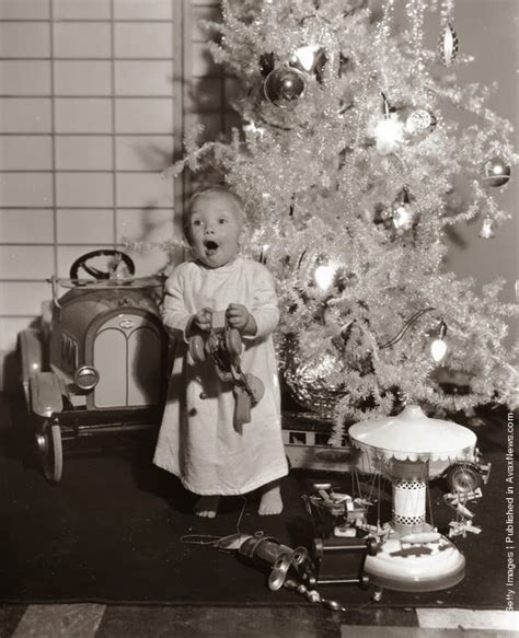 black and white photographs of christmas from between the