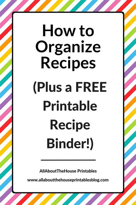 free recipe templates for binders how to organize recipes plus a free printable recipe binder