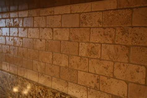 travertine brick backsplash 2x4 tumbled brick chiaro travertine backsplash