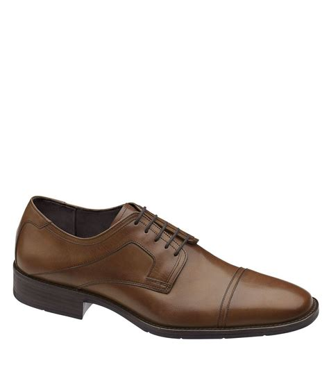 johnston murphy larsey cap toe dress shoes dillards