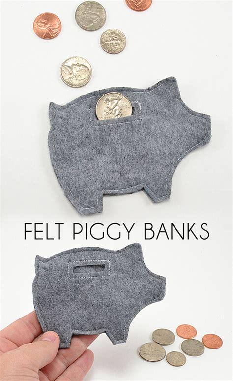 handmade pattern bank felt piggy banks tutorial dream a little bigger