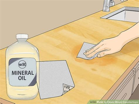Cleaning Wood Countertops by 3 Ways To Clean Wood Countertops Wikihow
