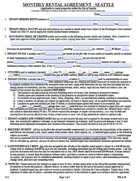 rental agreement template washington state rental agreement template washington state 28 images