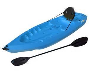 lifetime 8 ft plastic lotus kayak canoe with paddle