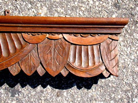 Wooden Cornices For Sale An American Carved Wood Cornice Wall Shelf Circa 1870 1890