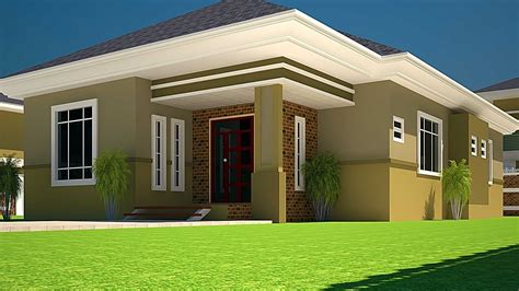 house building designs house plans ghana 3 bedroom house plan for a half plot