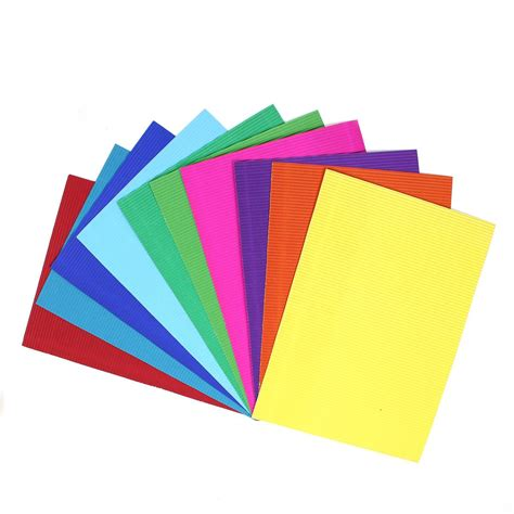What To Make With Coloured Paper - corrugated coloured paper a4 10 pack hobbycraft