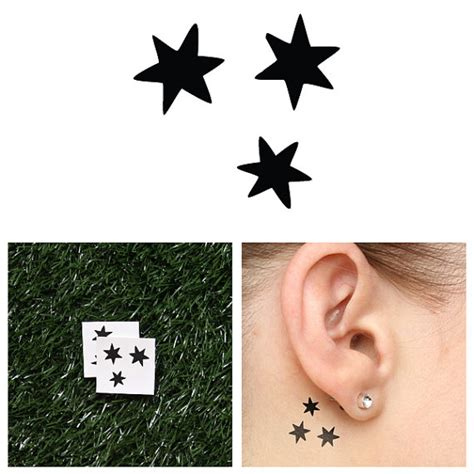 harry potter stars temporary tattoo set of 2