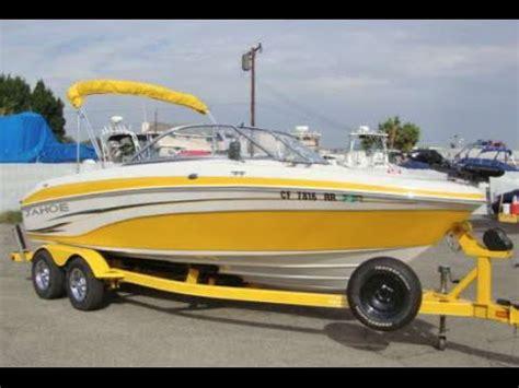 yellow tahoe boats tahoe q6 fish and ski with mpi 5 0l motor youtube