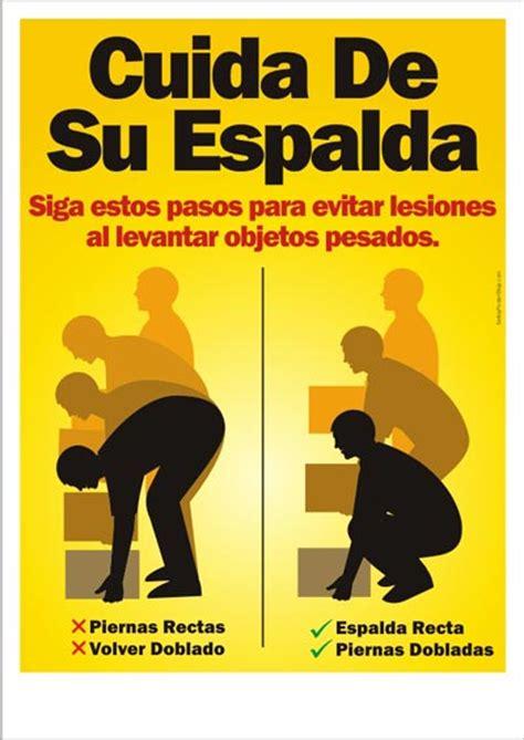 cuida de su espalda safety poster shop