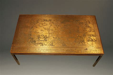 Copper Coffee Table Antique Rosewood And Copper Coffee Table