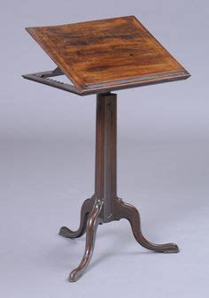 Hinged Drafting Table Support George Iii Carved Mahogany Tripod Reading Stand The Hinged Adjustable Top On Ratchet Support