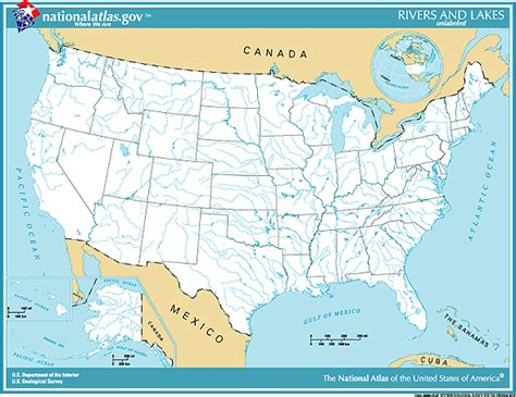 map of the united states with rivers and mountains united states map with rivers labeled