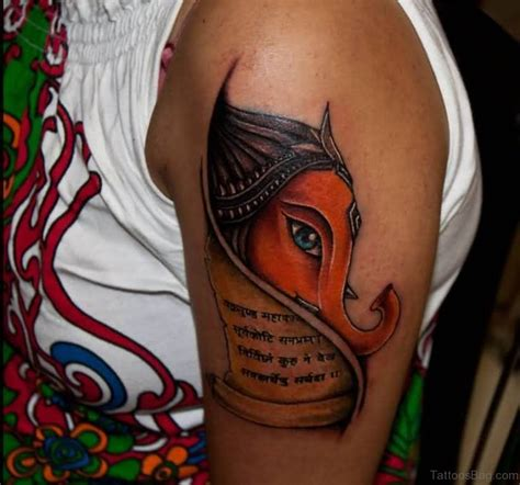 ganesha tattoo la ink 92 lord ganesha tattoos on shoulder