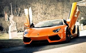 Lamborghini Aventador Orange Orange Lamborghini Aventador Hd Wallpapers