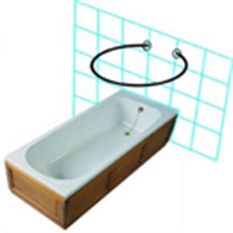 half oval shower curtain rod outside use half oval shower rod