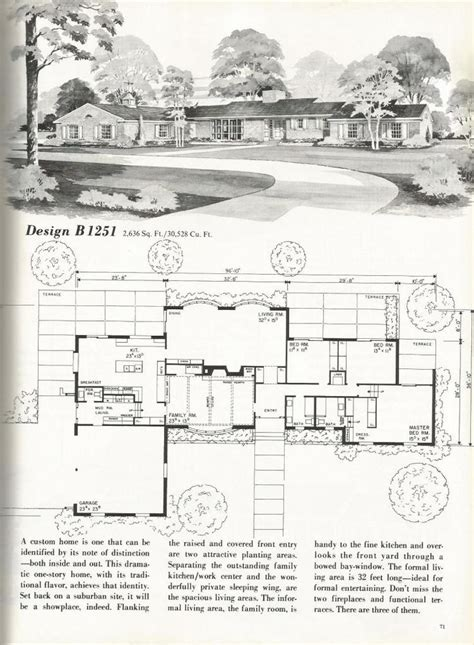 mid century ranch house plans vintage house plans mid century homes vintage homes 1