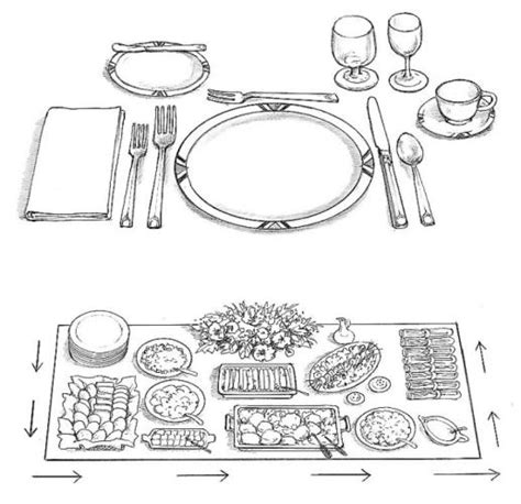 table setting chart free coloring pages of buffet table set up