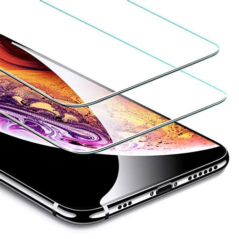 iphone xs screen protectors  tempered curved