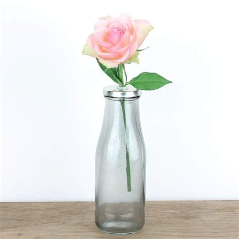 retro flower vase shabby chic wedding rustic set glass pink blue green ebay