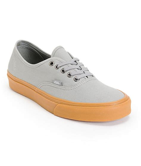 Vans Brownish Grey Shoes vans authentic grey gum canvas skate shoes mens at zumiez pdp