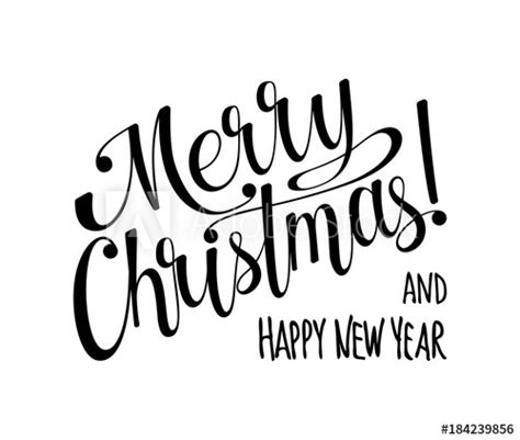 merry christmas  happy  year lettering calligraphy text  design card holiday greeting