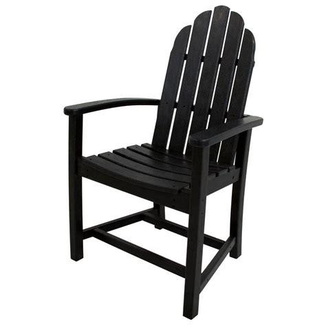 black adirondack chairs home depot polywood classic black adirondack patio dining chair