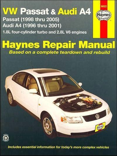 car manuals free online 1988 volkswagen passat navigation system vw volkswagen passat audi a4 1996 2005 haynes owners service repair manual 1563927039