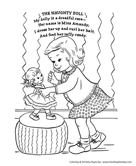 classic mother goose nursery rhymes coloring pages