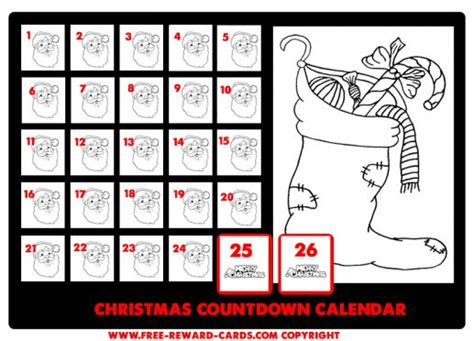 free printable daily countdown calendar christmas countdown calendar drawing website