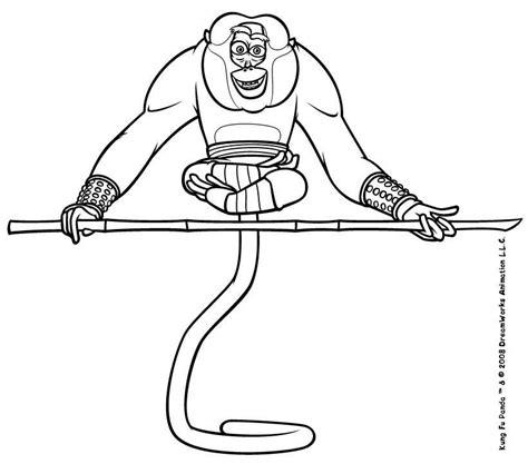kung fu panda monkey coloring pages kung fu panda coloring pages master monkey doing yoga