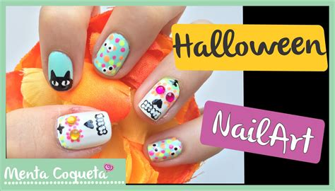 imagenes de uñas halloween 2014 u 241 as decoradas para halloween v 2015 youtube