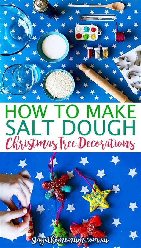 how to make christmas tree decorations at home how to make salt dough christmas tree decorations stay