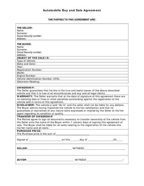 used motor vehicle purchase contract gm1a short form mughals