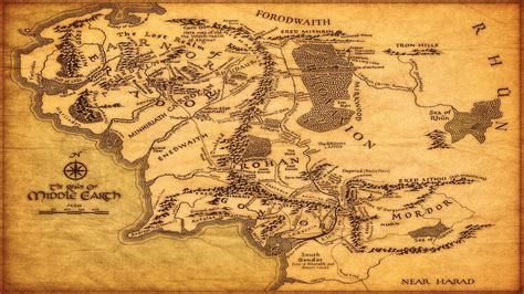 lotr map middle earth map wallpapers wallpaper cave