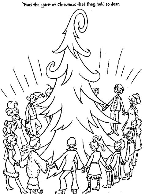 grinch tree coloring page the grinch coloring pages the who s singing around the