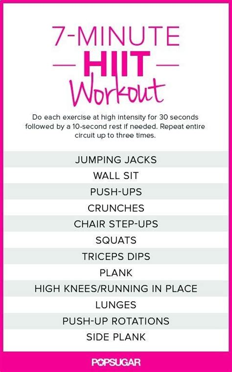 25 best ideas about hiit workout plan on