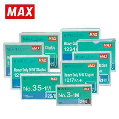 Sph Staples Max Hd No 10 max staples refill no 10 1m one stop office depot