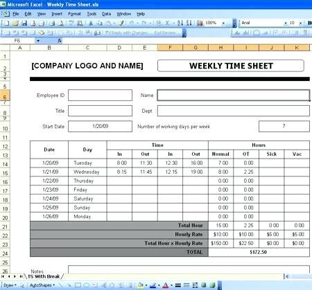 Excel Time Sheet Template Employee Time Tracking Spreadsheet Template Excel Template With Free Excel Timesheet Template With Formulas