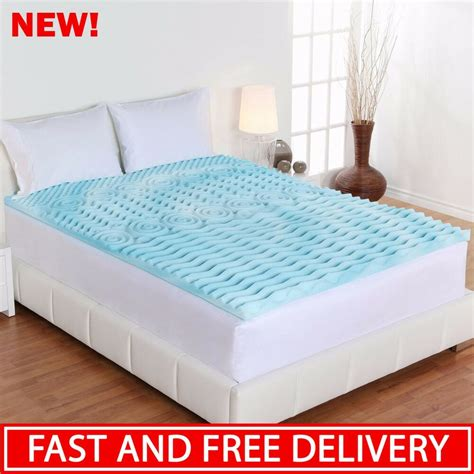 Bed Pads by Mattress Topper Cooling Gel Foam Pad Bed Cushion King Size